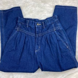 80's Vintage Retro Dark Wash High Rise Mom Jeans